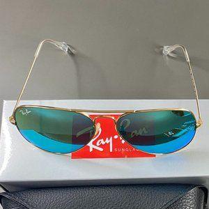 NWT Rayban 3025 Golden Frame Aviators Sunglasses